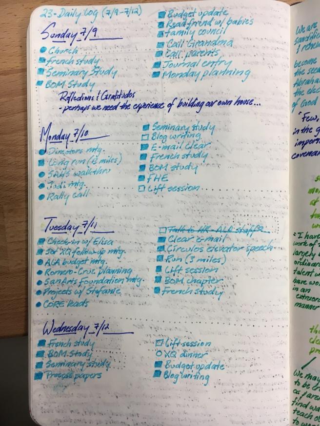 12 Sept 17 - Adventures in Bullet Journaling
